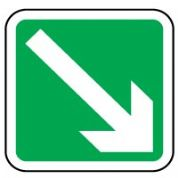 Safe Safety Sign - Arrow 45 Right Down 033